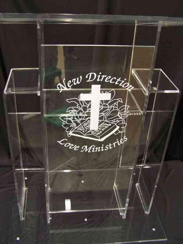 Acrylic Modern Design, Podium Pulpit, Perspex Lectern