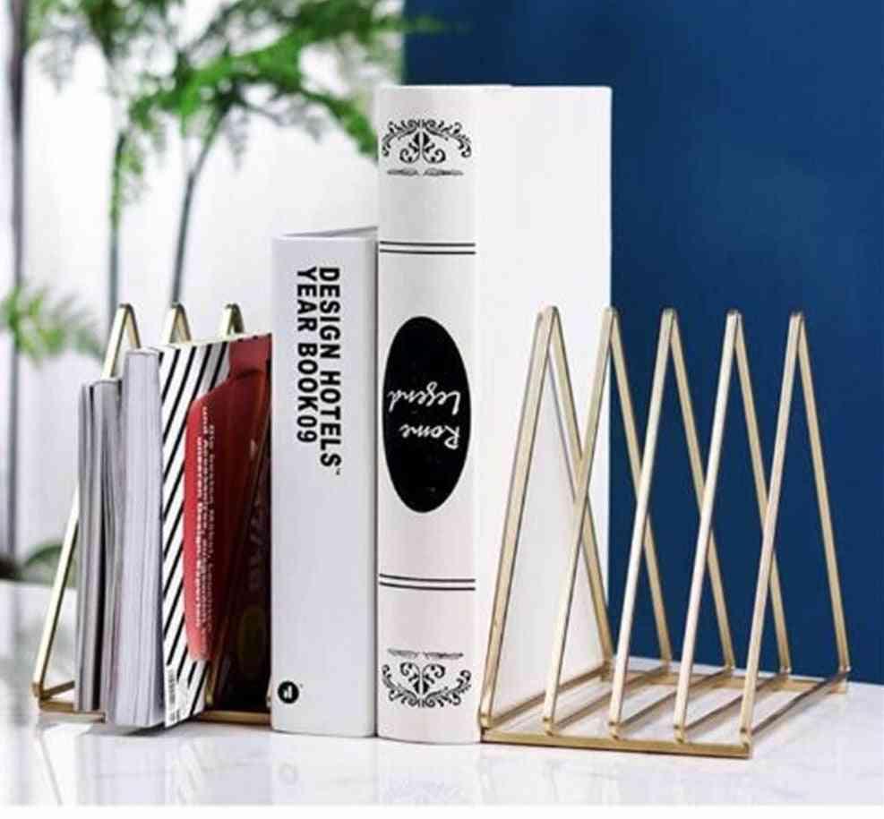 Nordic Style- Triangle Metal Telescopic, Folding Bookshelf, Rack Stand