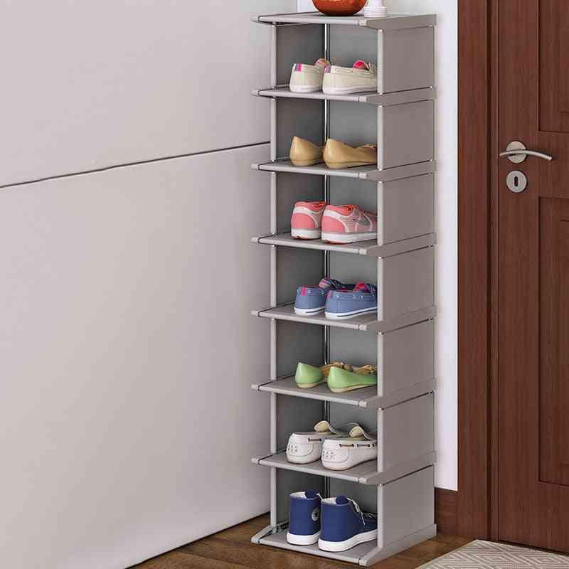 Vertical Dustproof, Shelf Space-saving, Conner Closet Holder, Shoe Rack Cabinet