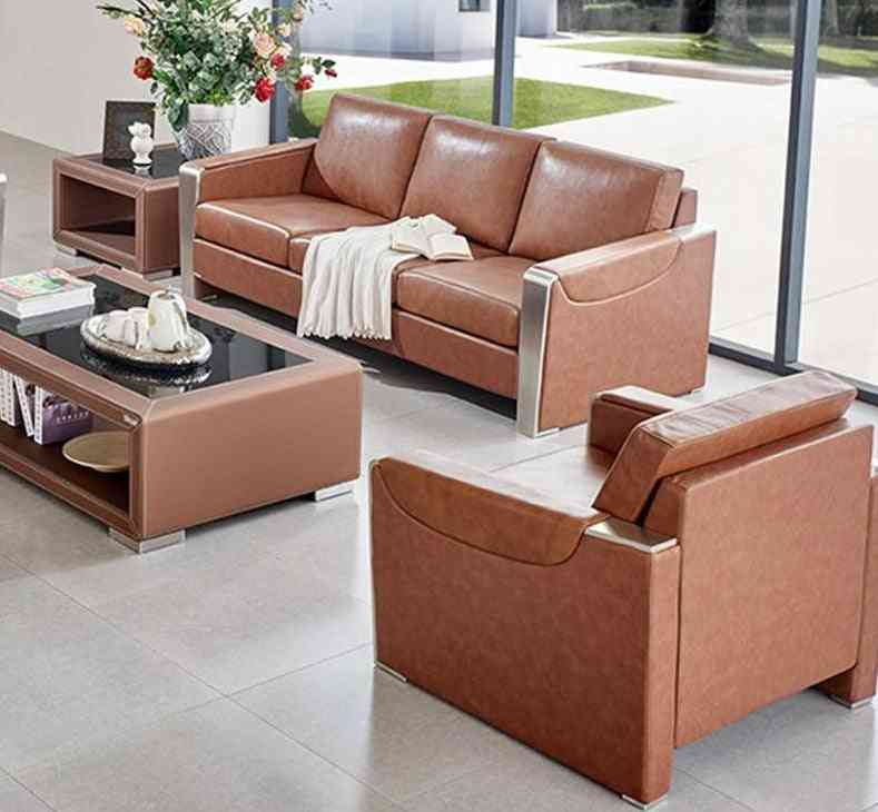 Leather Coffee Table Set