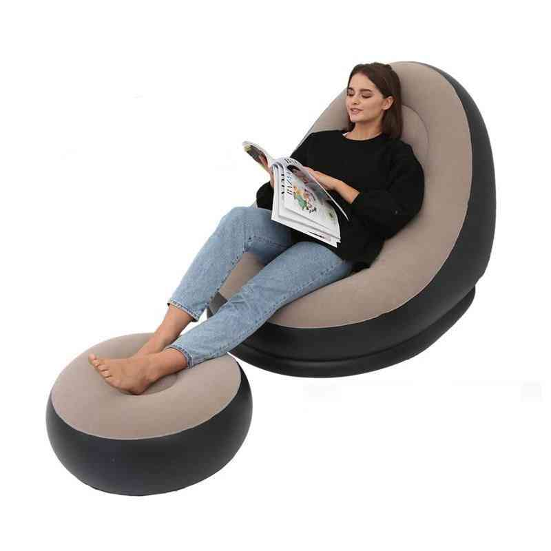 Inflatable Folding Recliner Outdoor Sofa Bed With Pedal Chair
