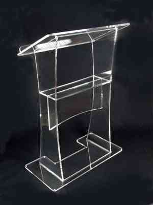 Stable Beautiful Firm Modern Design Cheap Acrylic Lectern