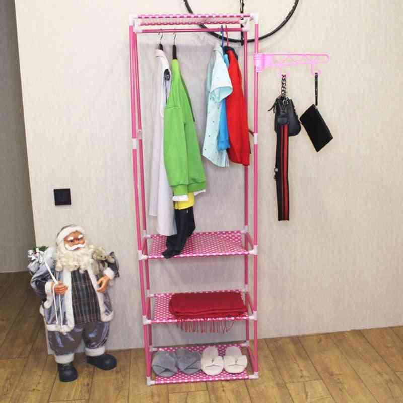 Simple Metal Iron Coat Rack / Floor Standing For Clothes Hanging/storage Shelf/hanger/racks