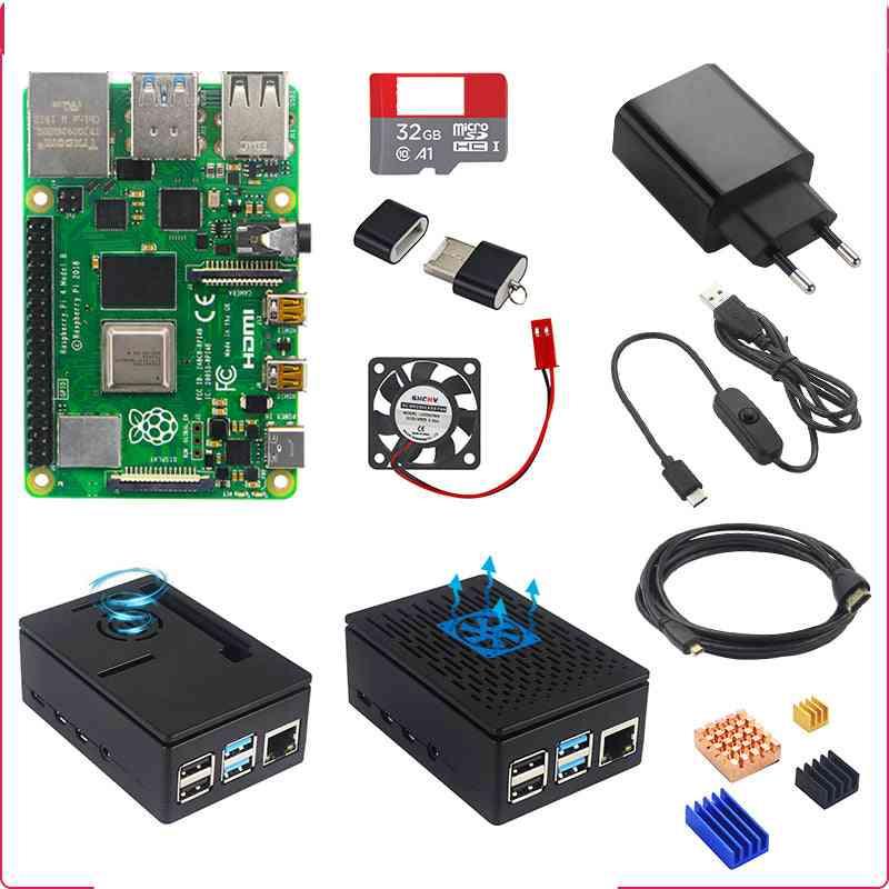 Pi 4 Model B 2/4gb Kit Board, Power Adapter, Case Box, 32/64gb Sd Card, Hdmi Cable & Heatsink