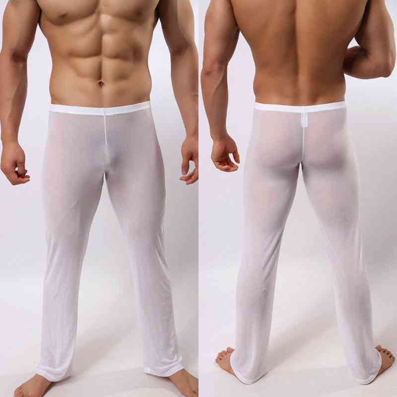 Men's Soft Mesh Sheer See Through Stretch Pants