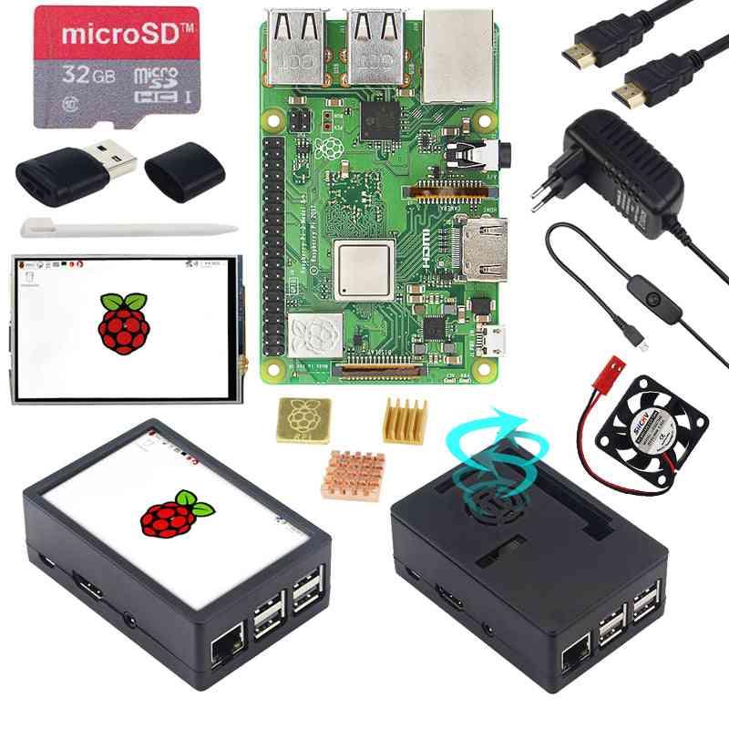 3 Model B + Abs Case + 32gb Sd Card + Power Adapter + Heatsinks + Optional  Touch Screen