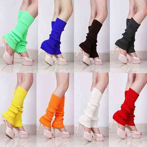 Knit Winter Leg Warmers, Loose Boot Stockings Leggings's