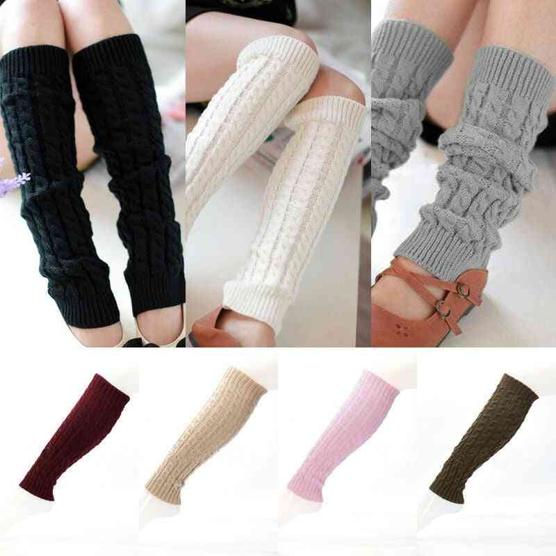 Winter Warm- Knee High Knitted, Crochet Leg Warmers, Boot Cuffs Socks