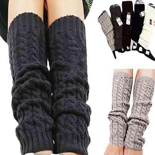Winter Knit Crochet, Leg Warmers, Legging Knee, High Socks