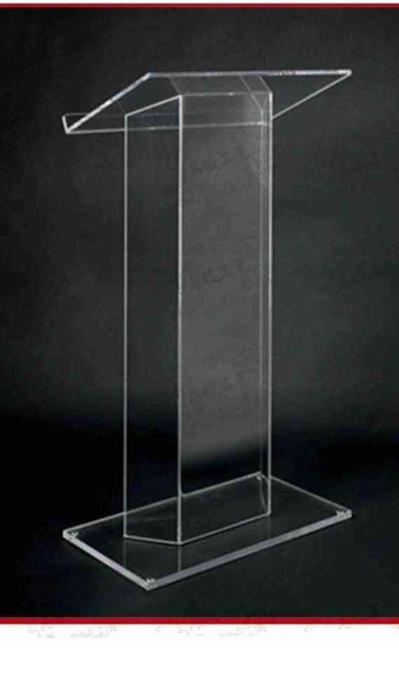 Acrylic Elegant, Floor Standing, High Grade Lectern