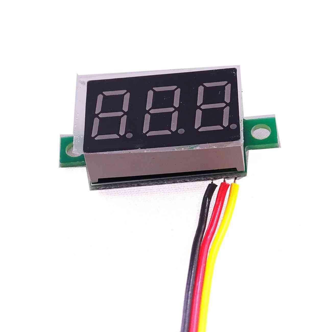 Mini 3 Bits Digital Led Display Panel Voltage Meter
