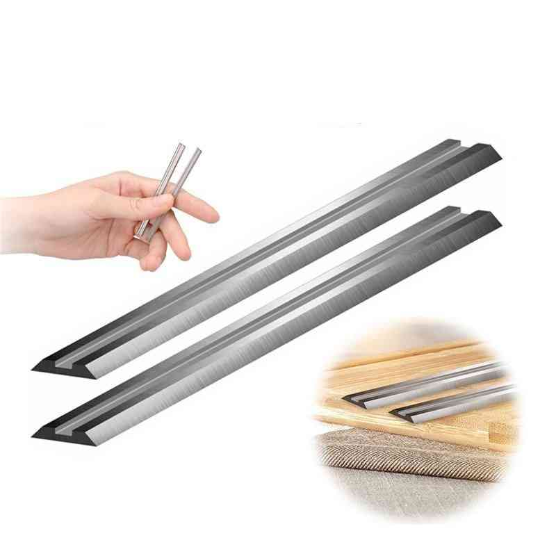 2pcs Carbide Reversible Wood Planer Blade Knife