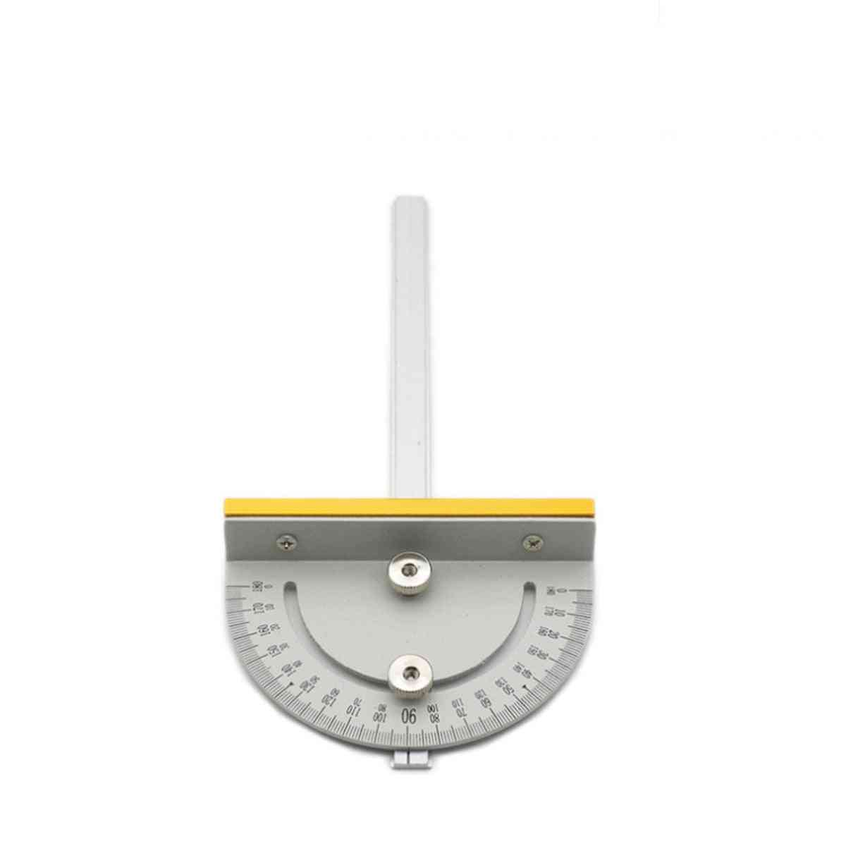 Circular Mini Saw Table Miter Gauge Diy Woodworking T-style Angle Ruler