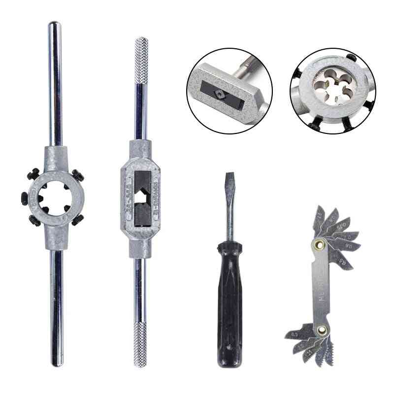 Hand Tapping Tools Screw Thread Tap Die Wrench Set