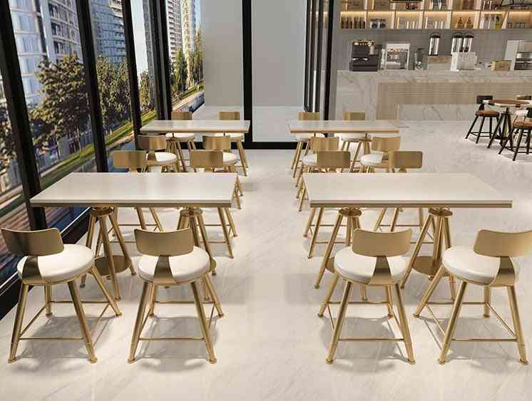 Combination Simple And Fresh Cafe Dessert Shop Iron Small Table And Chairs