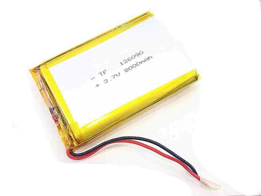 8000mah, 3.7v Lithium Polymer Battery