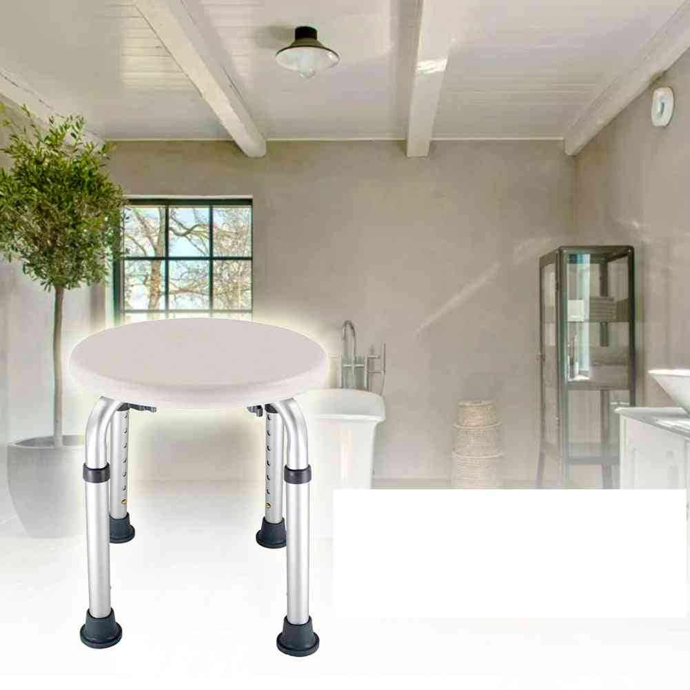 Adjustable Seat Height, Disabled Home Shower Stool, Non-slip Chair