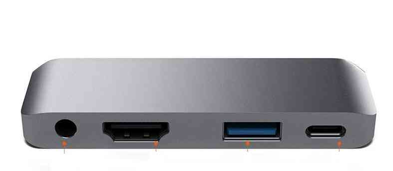 4-in-1, Usb-c Port Converter, 4k Hdtv Hub Adapter For Ipad Pro, Laptop