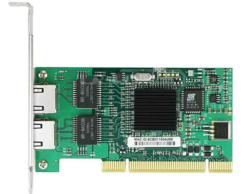 7212mt Gigabit Ethernet Network Adapter Dual Port Rj45 Pci Lan Card Intel