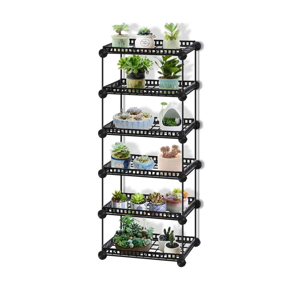 Durable Metal Plant Shelves Flower Pot Holder Garden Rack Display Stand Succulent Plants