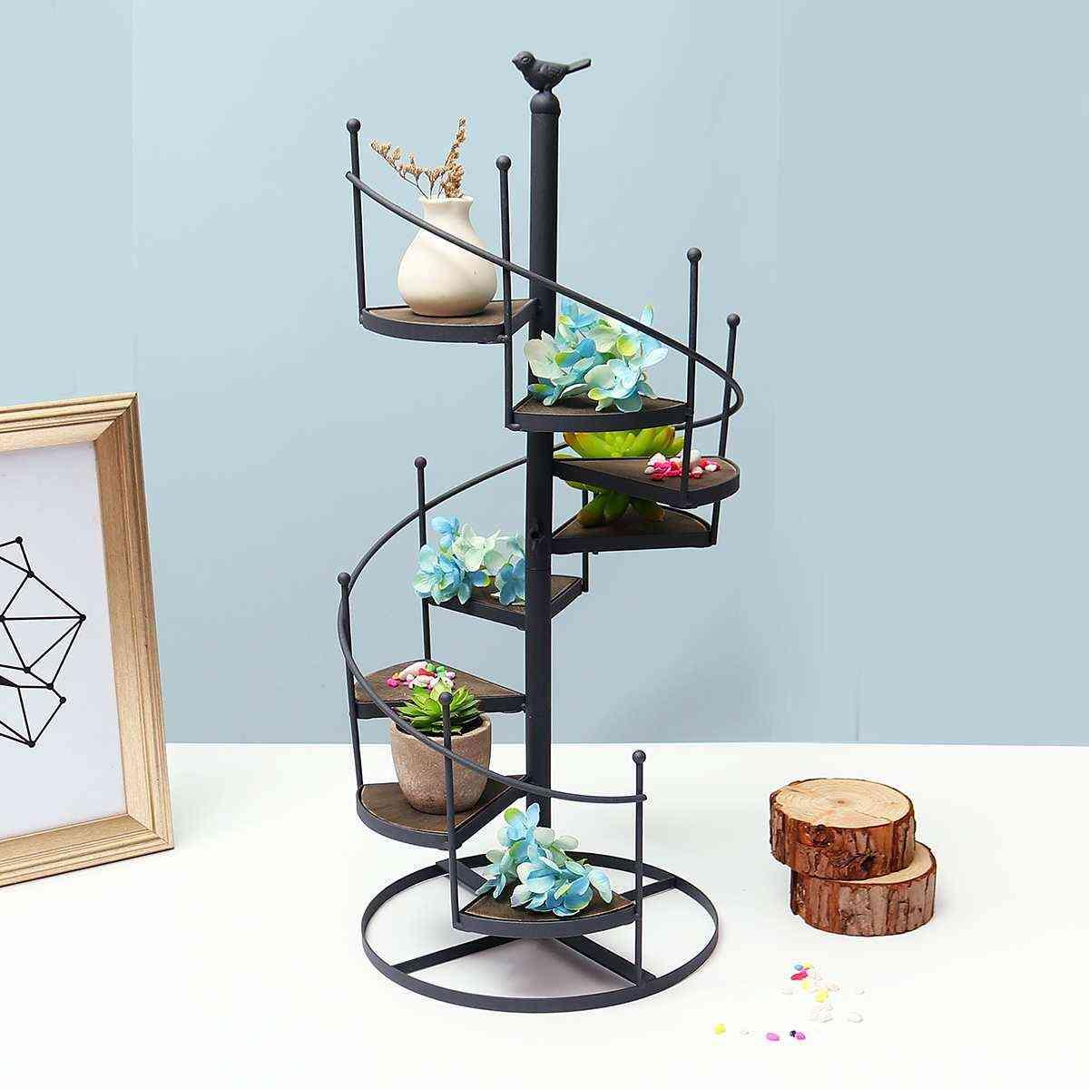 Modern Decorative Iron Plant Rack Stand Plants Succulent Shelf 8 Layer Stair Flower Stand (metal Rack)