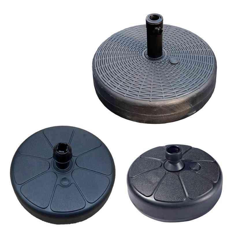 Umbrella Base Plastic Round Shape Water Sand Fillable Umbrella Base Stand Holder