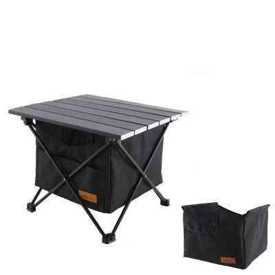 Folding Table Storage Basket Picnic Hanging Bag Invisible Pocket Waterproof Table