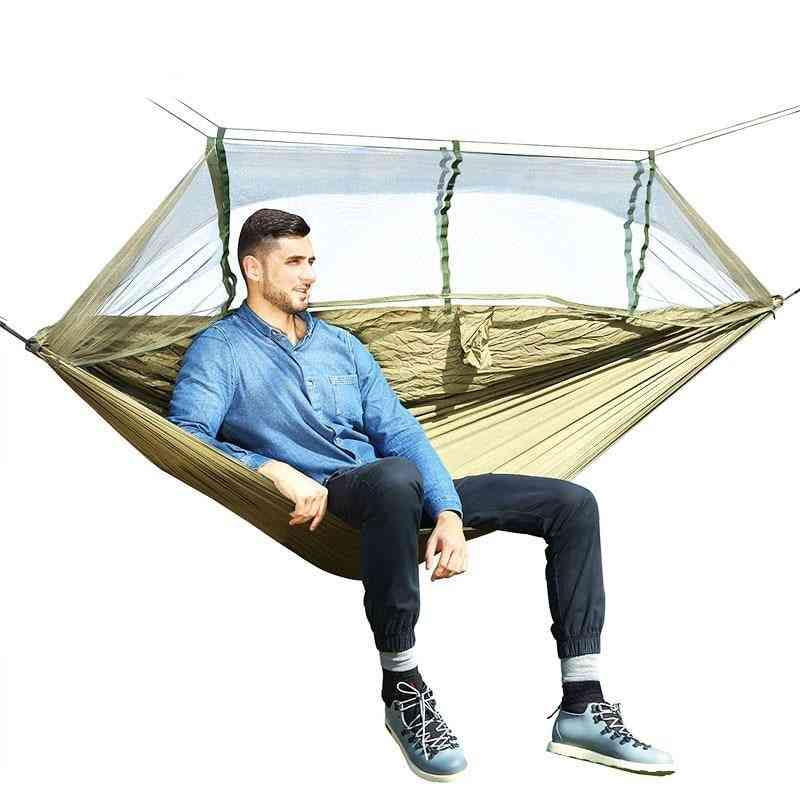 Outdoor Mosquito Net Parachute Hammock Camping Hanging Sleeping Bed Swing Chair