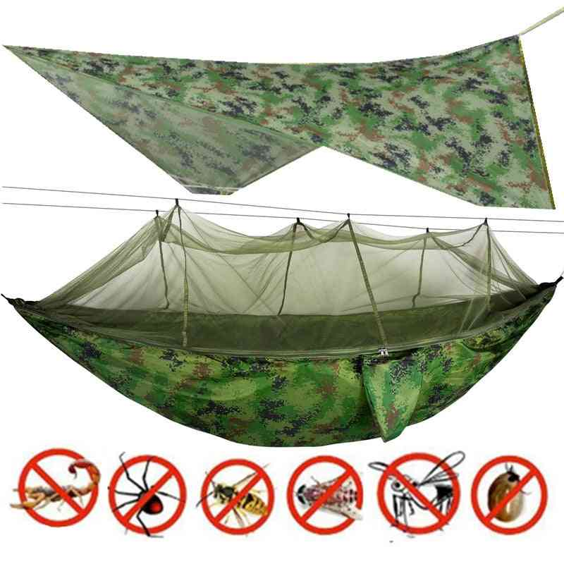 Camping/garden Hammock With Mosquito Net Outdoor Furniture 1-2 Person Portable Hanging Bed