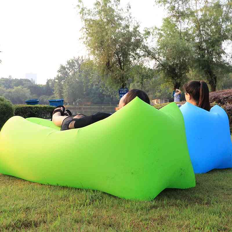 Inflatable Sofa Lazy Bag Camping Hammock Foldable Four Seasons Ultralight Air Bed Lounger