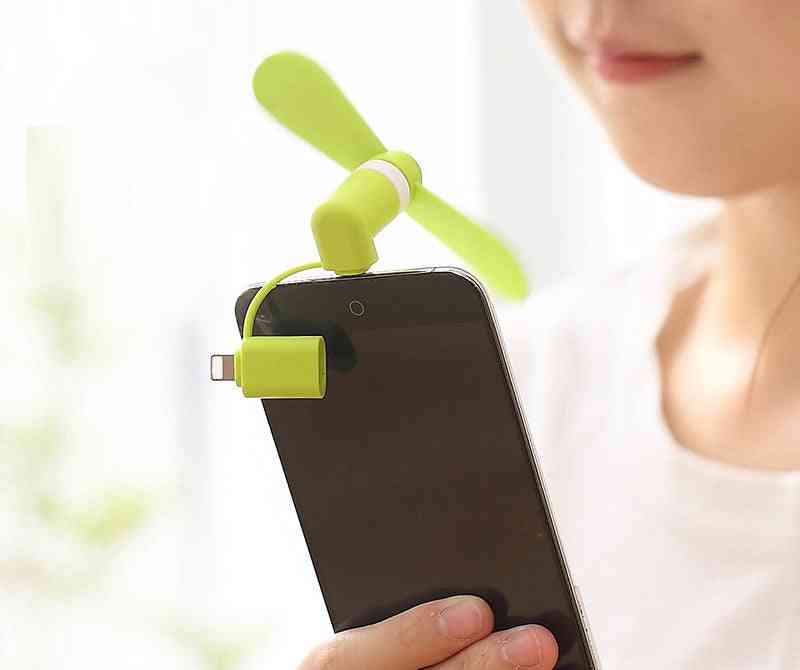 Portable Phone Cooler Mini, Mobile Fan, Soft Cooling Smartphone Summer Tool