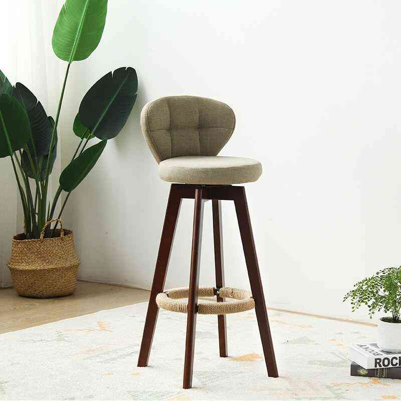 New Bamboo Solid Wood Bar Chair