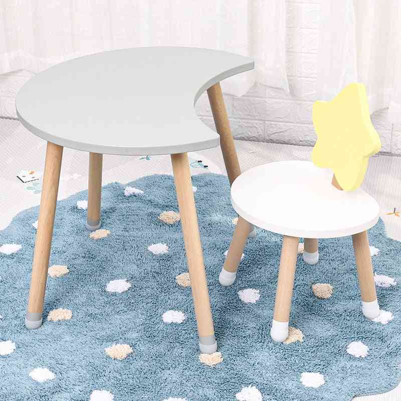 Nordic Furniture Room Solid Wood Tables And Chairs For Kindergarten Kids