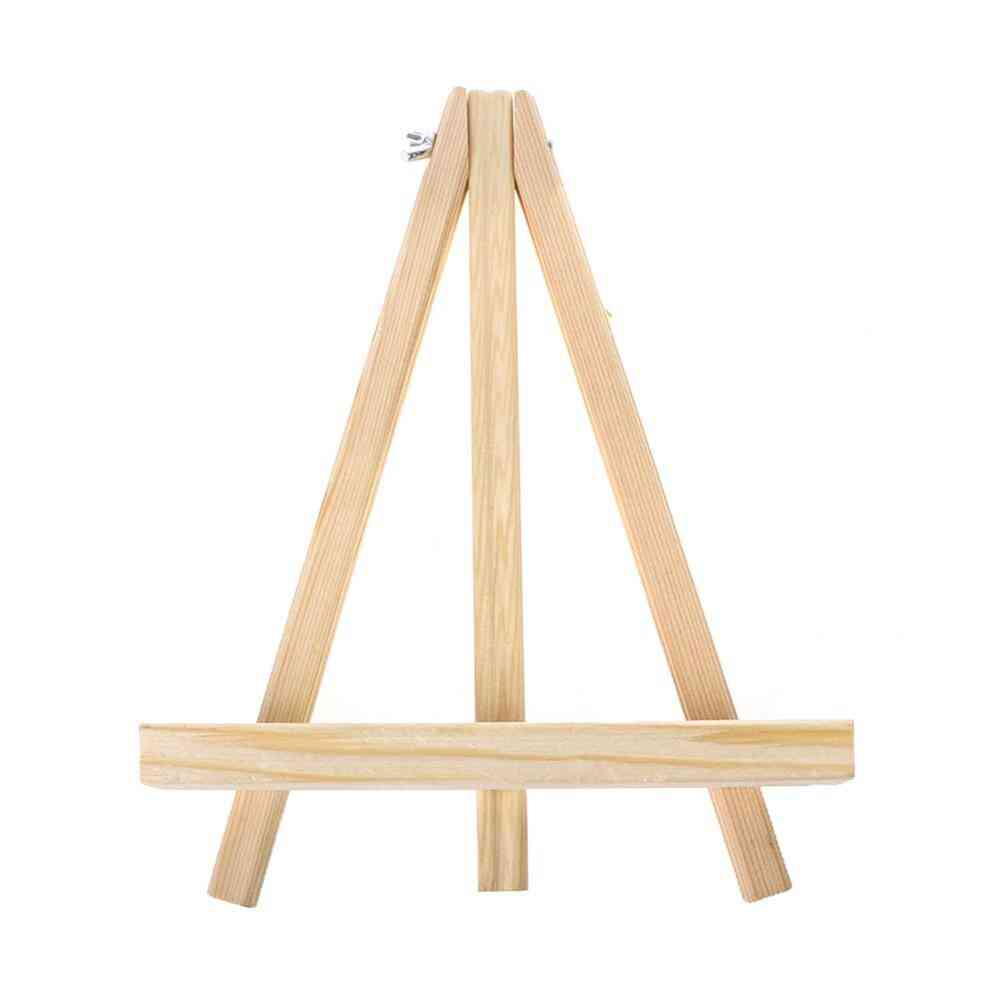 Wooden Artist Easel Painting Drawing Stand Easel Frame Artist Tripod Photo Holder (18x24cm)