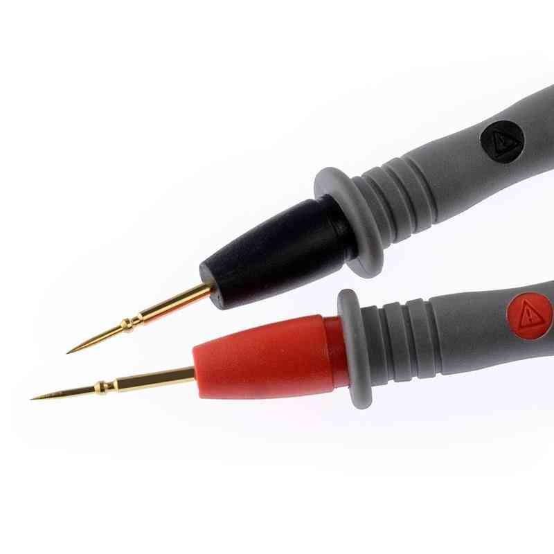 Practical Thin Tip Needle Probe Digital Multimeter Tester Pen Cable Wire Universal