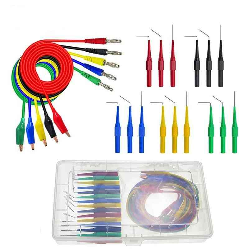20pcs/set Back Probe Kit, Alligator Clip Banana Plug Multimeter Test Lead