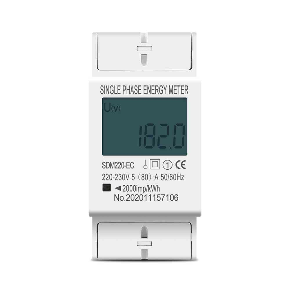 Single Phase Two Wire Lcd Digital Display Power Consumption Energy Electric Meter