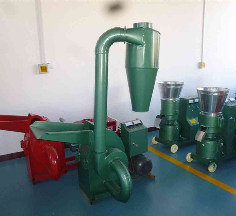 Wood Mill Animal Feed Hammer Mill With Cyclone