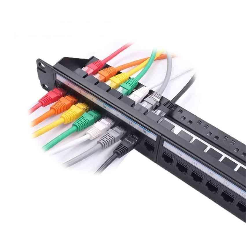 Patch Panel  Network Cable Adapter, Keystone Jack Ethernet Distribution Frame