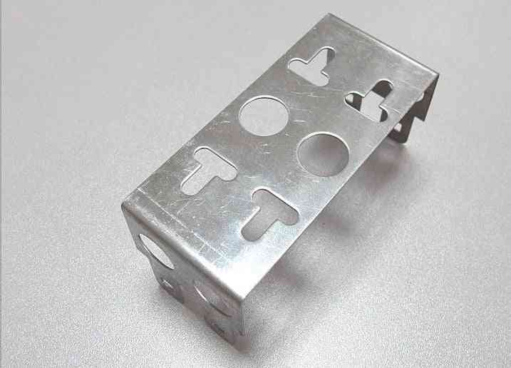 Thickened Stainless, 2-units Iron Frame For Telephone Snap-in Terminal Block