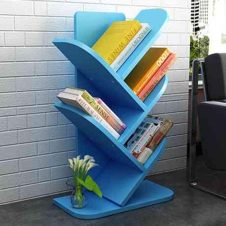 Furniture Wood, Bookshelf Racks & Tree-shaped Bookcase, Storage Cabinet