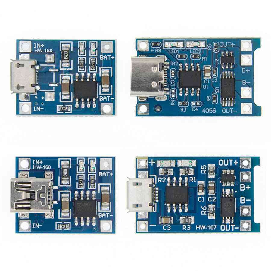 Tp4056 Protection Dual Functions  5v 1a Micro Usb Lithium Battery Charging Board Charger Module