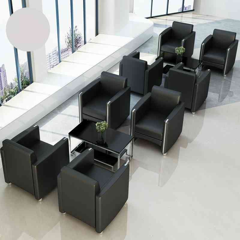 Fashion Office Sofa Simple Business Cloth Reception Room Tea Table