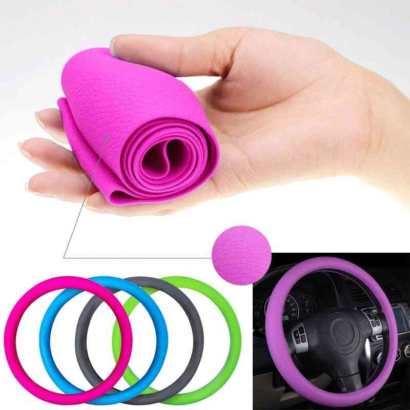 Car Silicone Steering Wheel Glove Cover, Texture Soft, Soft Accessories
