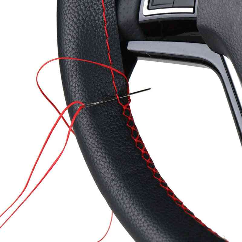 Steering Wheel Covers, Soft Fiber Leather Braid With Needle And Thread