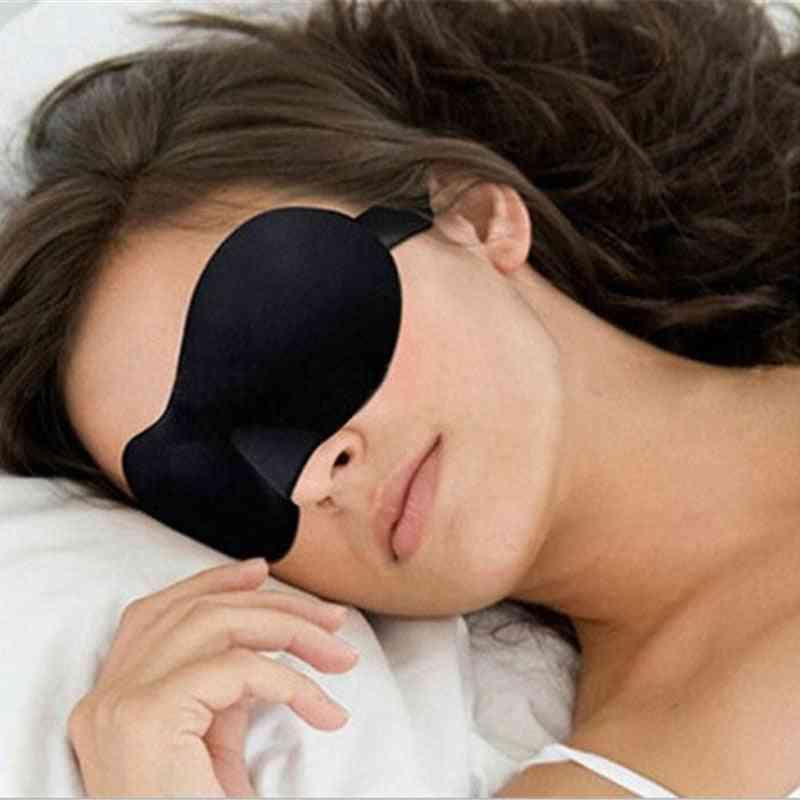Travel 3d Eye Mask, Night Relax Sleep Soft Padded Shade Cover