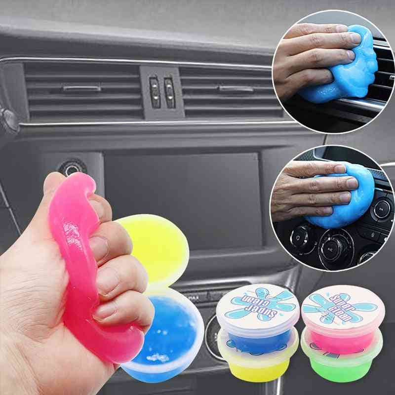 Car Super Clean Mud Keyboard Cleaning, Air Conditioner Vent Magic Soft Sticky Clean Glue, Slime, Dust, Dirt Cleaner