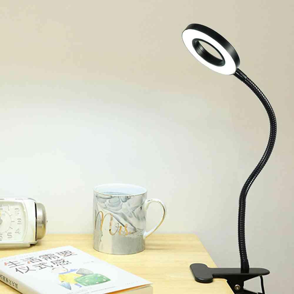 Usb Power Flexible Hose Table Desk Book Headboard Study Led Light Clip