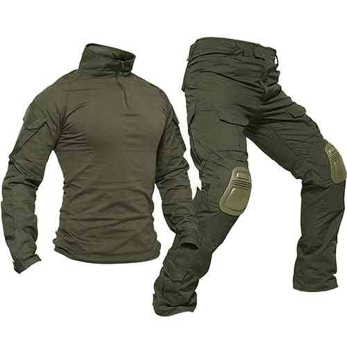 Men Rip-stop Camouflage Military Clothing Sets, Airsoft, Paintball Combat, Security Suits