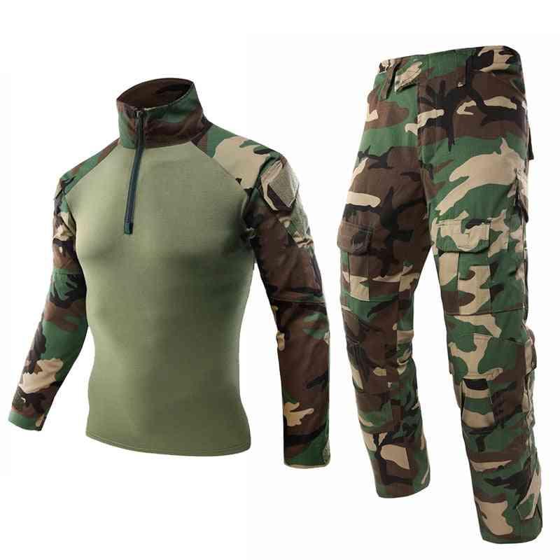 Mege Army Military Uniform, Tactical Camouflage Suit, Multicam, Combat Shirt, Pants